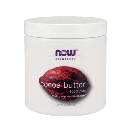 Solutions Cocoa Butter 100% Pure Now Foods 7 oz (7 Ounce Pure Aloe)