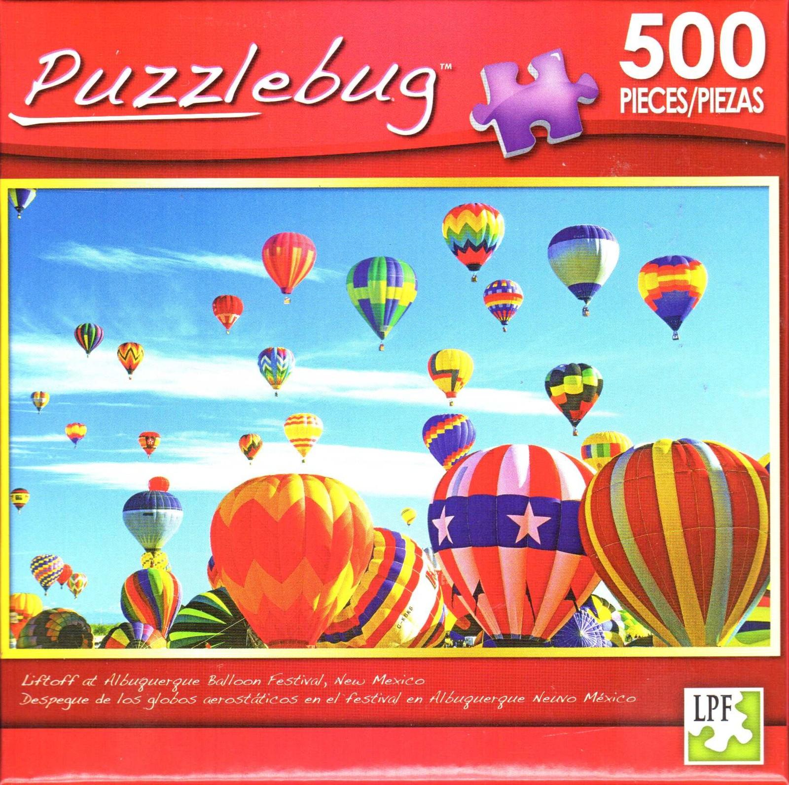 Balloon Liftoff Puzzlebug 500 piece Brand New FREE SHIPPING