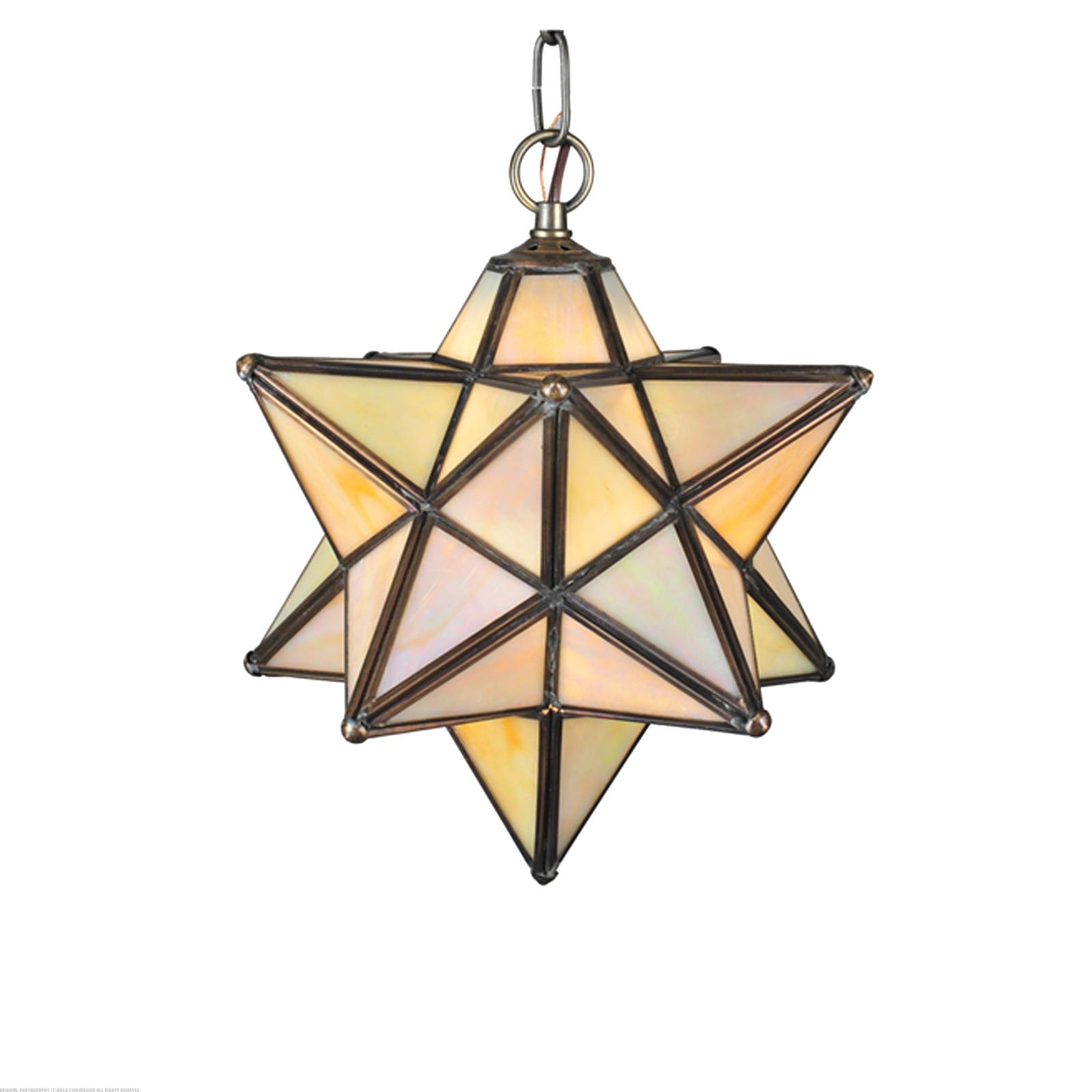 Moravian Star Iridescent Mini Pendant