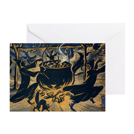 Vintage Halloween Card (CafePress - Vintage Halloween Witches - Greeting Card, Blank Inside)