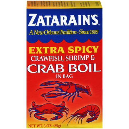 (2 Pack) Zatarain's Crawfish Shrimp & Crab Boil Extra Spicy Seasoning In Bag, 3