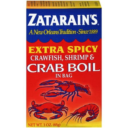 (2 Pack) Zatarain's Crawfish Shrimp & Crab Boil Extra Spicy Seasoning In Bag, 3 oz - Crawfish Boil Party Supplies