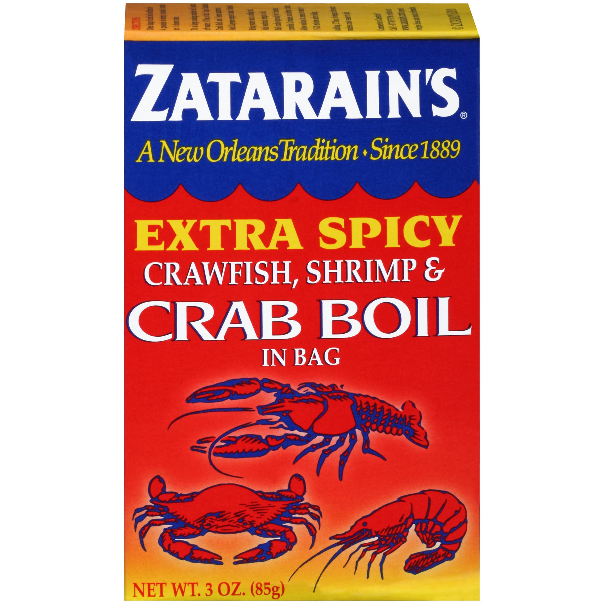 (2 Pack) Zatarain's Crawfish Shrimp & Crab Boil Extra Spicy Seasoning In Bag, 3 oz