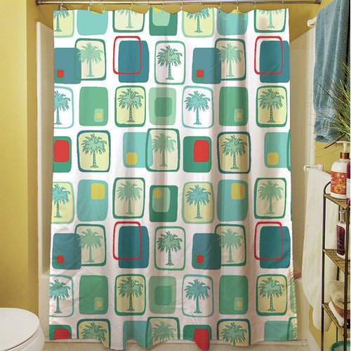 Thumbprintz Deco Palm Shower Curtain