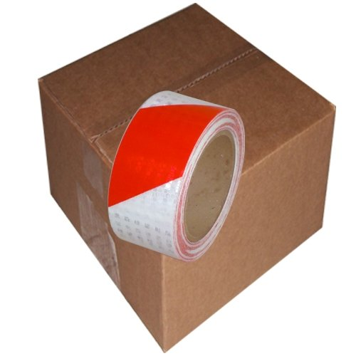 "Super Bright High Intensity Reflective Tape 2"" x 30' (6 Roll/Case) Red/White"