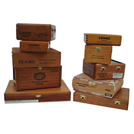Generic Elegant Wooden Empty Cigar Boxes for Home Decor & Great Gift 10 Pack