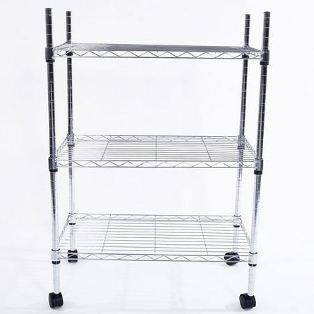 Ktaxon 3 Tier Wire Shelving Rack Shelf Adjustable Unit Kitchen Storage Organizer