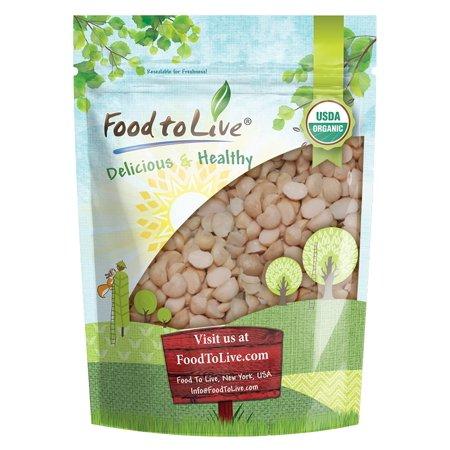 Organic Macadamia Nut Pieces, 8 Ounces — Raw, Non-GMO, Unsalted, Unroasted, Kosher, Vegan, Bulk
