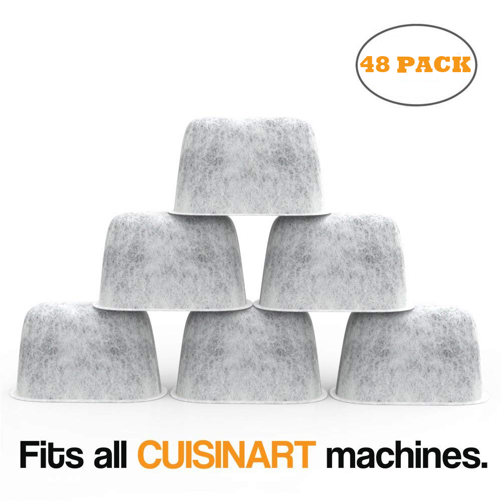 48 Pack Replacement Charcoal Water Filters for Cuisinart Coffee Machines