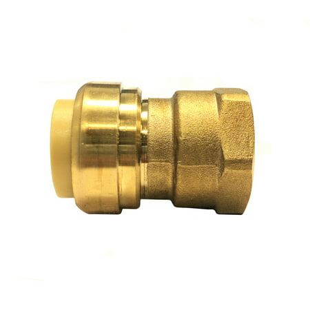 - Libra Supply Lead Free 1/2 inch Push-Fit Female Adapter, Push to Connect, Push x FIP(Pack of 6 pcs, Click in for more size options), 1/2'', 1/2-inch Brass Pipe Fitting Plumbing Supply