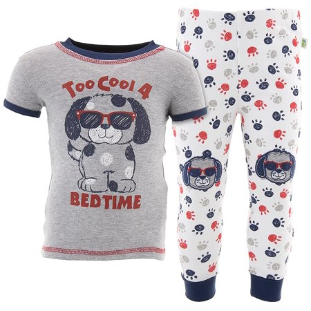 Duck Duck Goose Boys Too Cool Puppy Gray Cotton Pajamas
