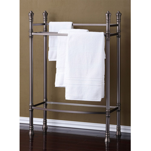 Best Living, Inc. Monaco Towel Stand, Brushed Titanium