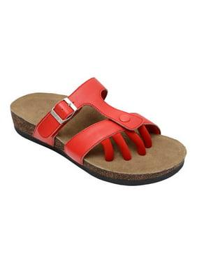 b60264b1f Red Womens Sandals   Flip-flops - Walmart.com