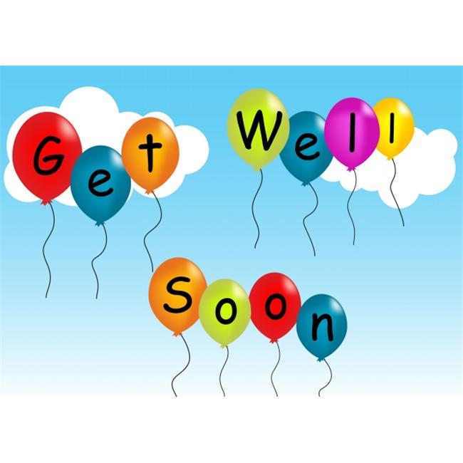 Birchcraft Studios 2085 Get Well Soon Balloons - Red Lined Envelope with White Lining - Red Ink - Pack of 25