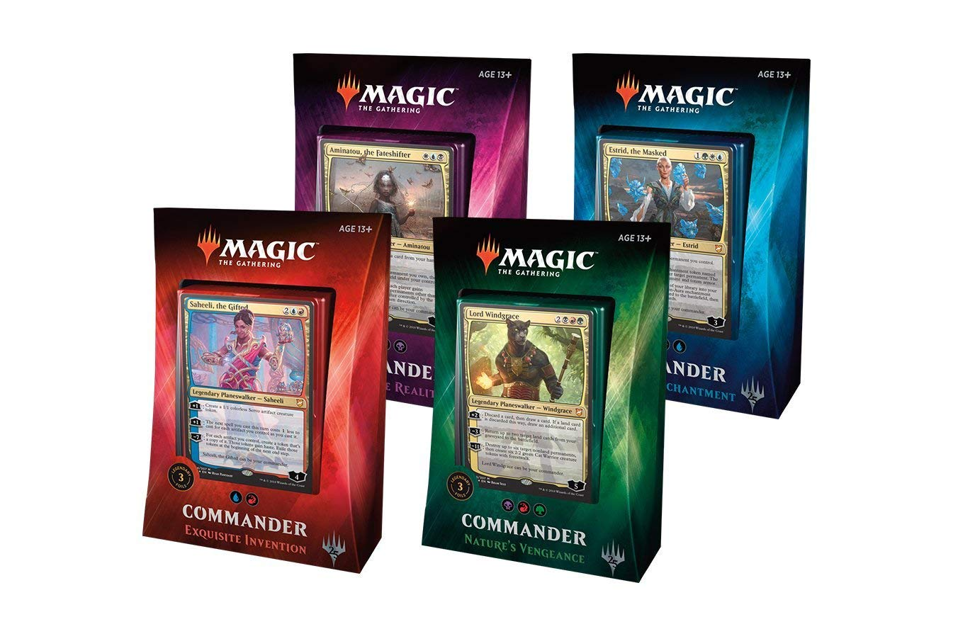 MTG Magic The Gathering 2018 Commander Set All 4 Decks by Wizards of the Coast