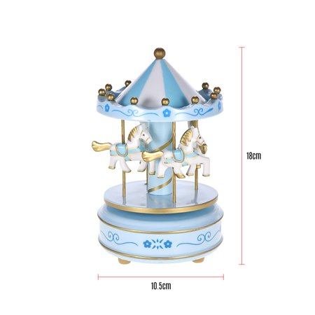 Merry-Go-Round Carousel Music Box Classical Melody Birthday Christmas Festival Musical Gift for Children Kids - image 1 of 6