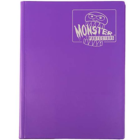 Monster Binder - 9 Pocket Trading Card Album - Matte Purple (Anti-theft Pockets Hold 360+ Yugioh Pokemon Magic the Gathering Cards) - image 2 of 4