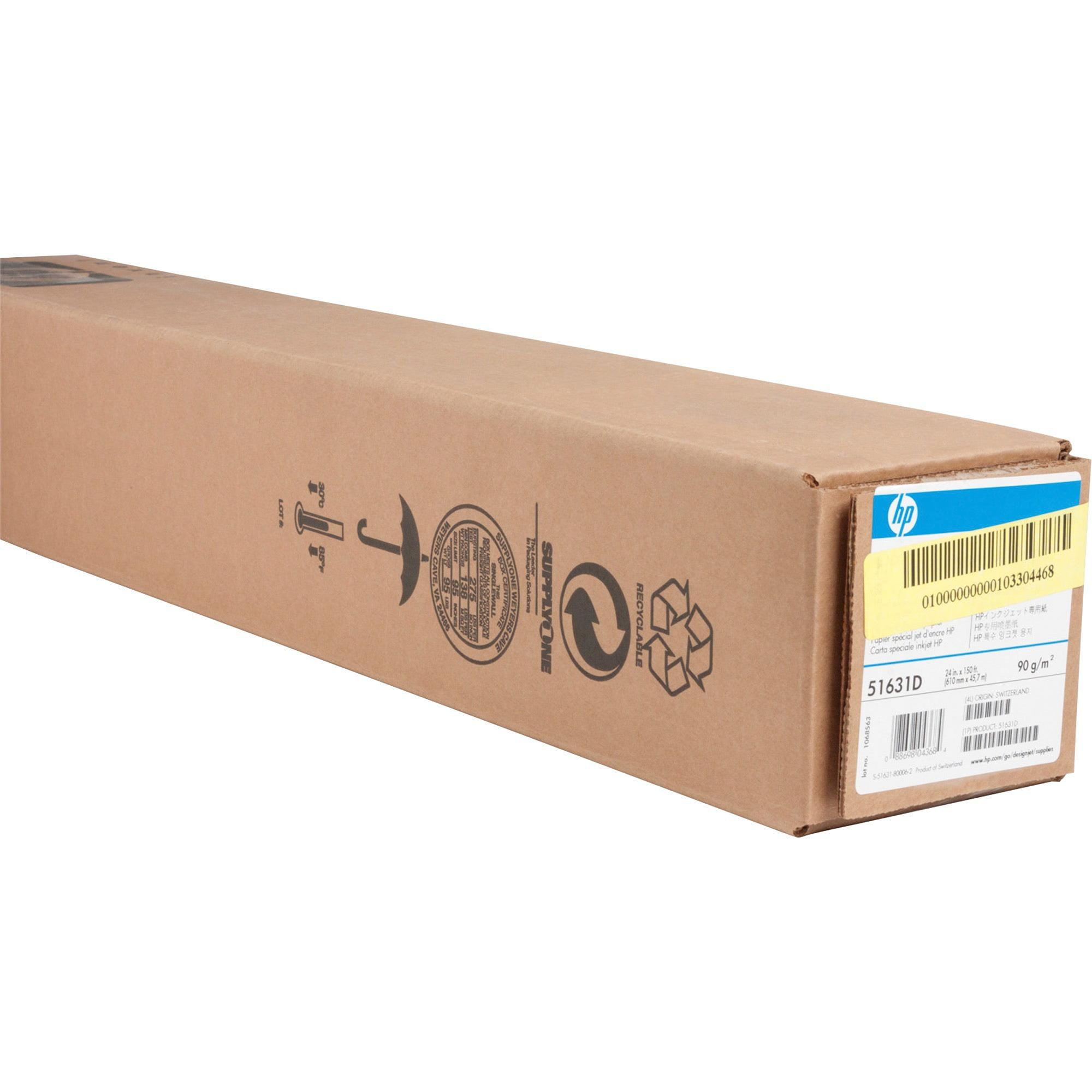 HP, HEW51631D, Wide Format Special Inkjet Technical Paper, 1 Roll, Glossy