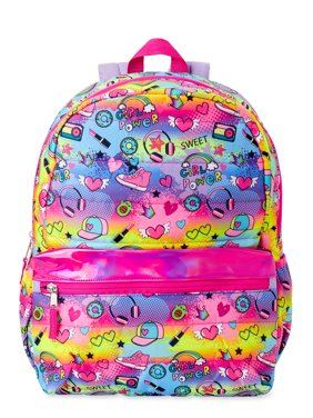 Wonder Nation Girls Quilted Conversation Backpack