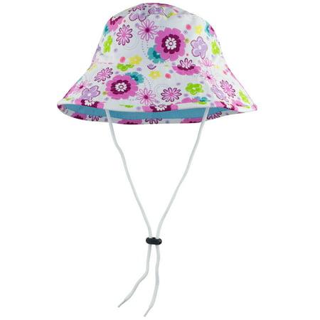 SunBusters Girls Bucket Hat (UPF 50+), Mallowberry, Small - Kids Bucket Hats