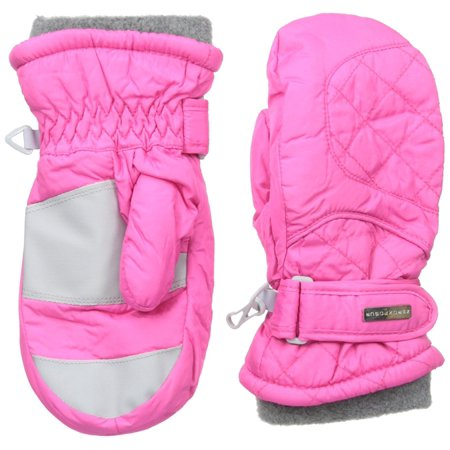 ZeroXposur Junior Girl Adjustable Wrist Paula Ski Mittens Pink