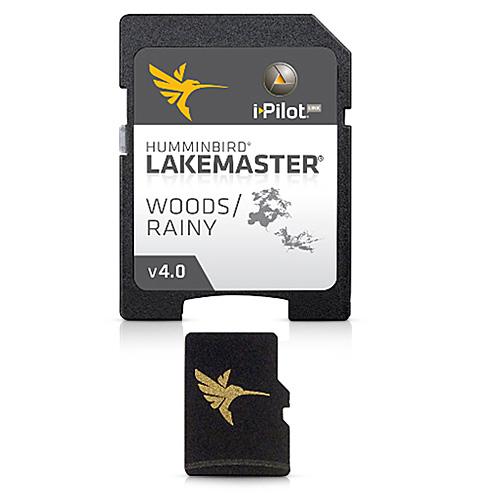 Humminbird LakeMaster Chart Woods/Rainy Version 4 HD 1ft Map Card 600027-2