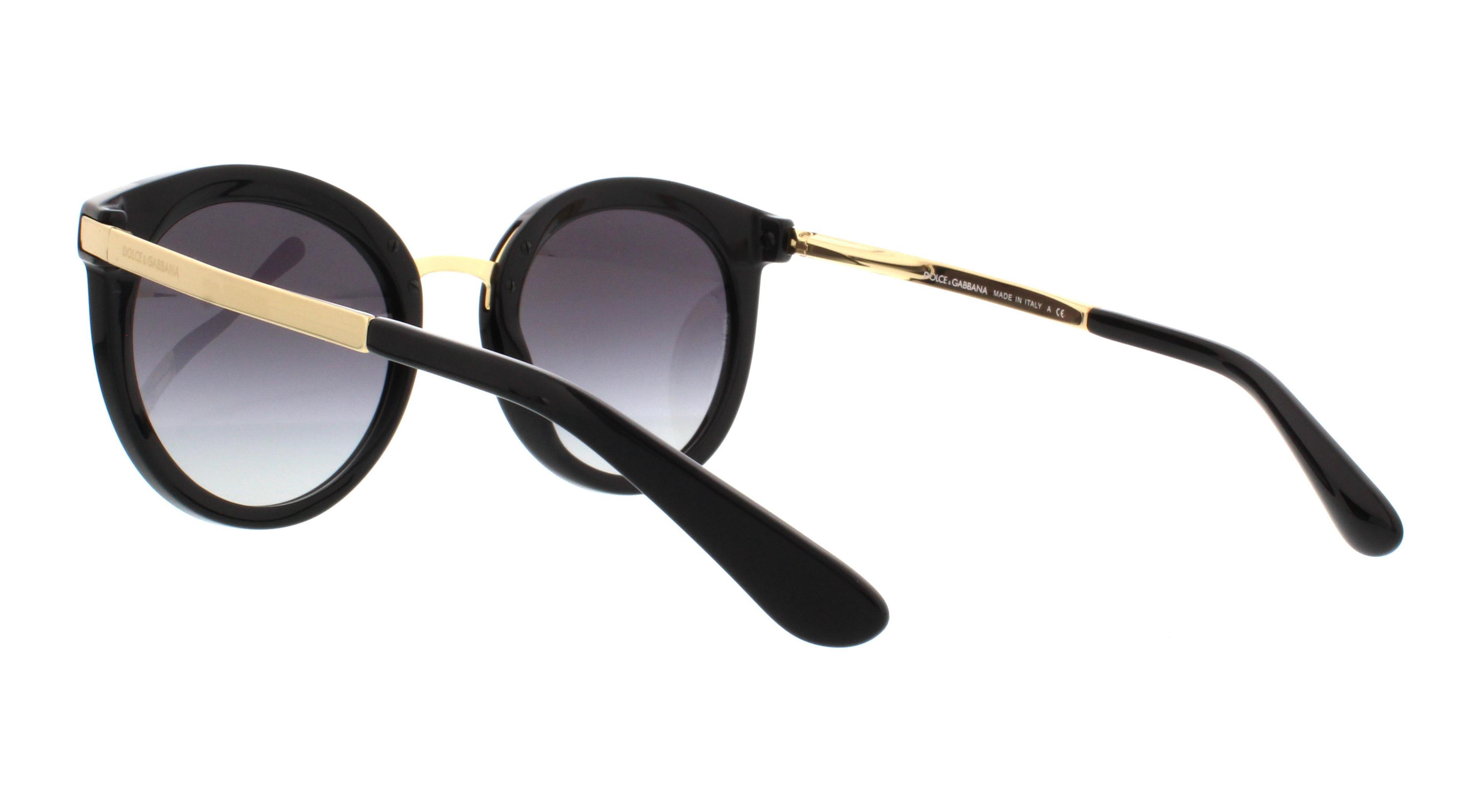 Dolce   Gabbana Women s Gradient DG4268-501 8G-52 Black Round Sunglasses -  Walmart.com 9f6dfbe25828