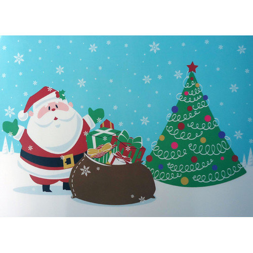 Carnation Home Fashions Santa's Surprise Expanded Placemat (Set of 4)