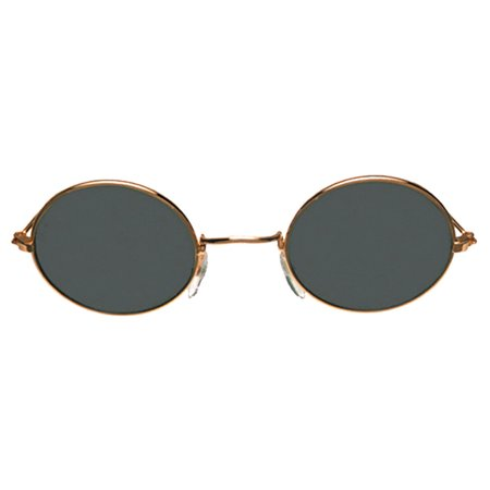 Morris Costumes 60's Character John Gold Metal Frames Glasses One Size, Style (60's Glasses Costume)