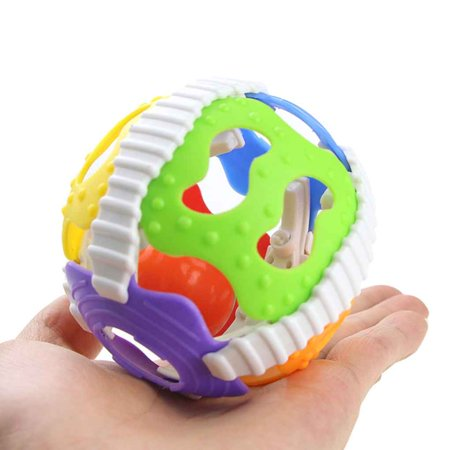 Crafty Baby Clutch Ball (Baby Rattle Toys Little Loud Bell Ball Toy Newborn Activity Grasping Toy Handbells Ring Handle Toys )