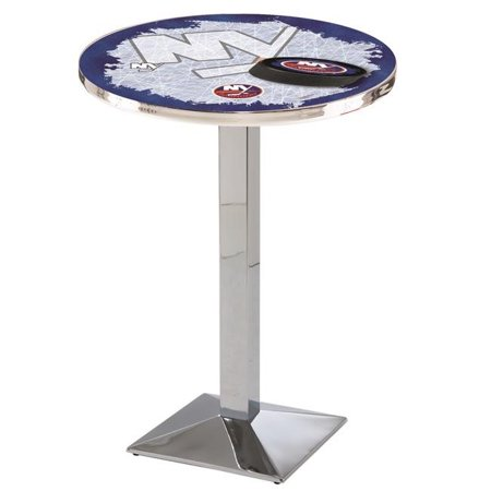Holland Bar Stool L217C4236NYIsln 42 in. New York Islanders Pub Table with 36 in. Top, Chrome
