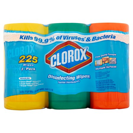 Clorox Disinfecting Wipes Value Pack  Fresh Scent  Citrus Blend And Orange Fusion  225 Count