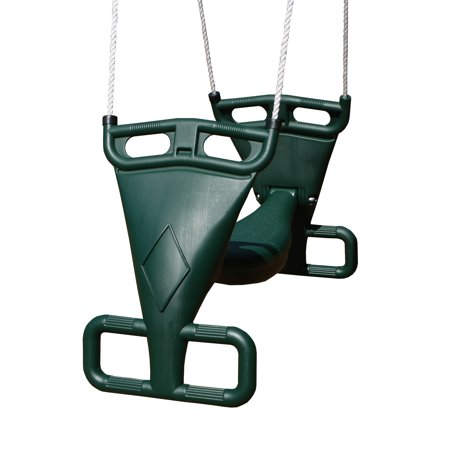Gorilla Playsets Durable Weather Resistant Dual Rider Tandem Swing, Green