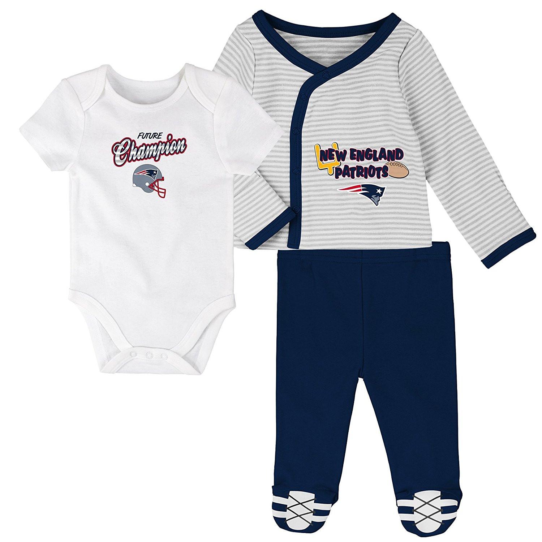 New England Patriots Infant NFL Future Champ 3-Piece Pants Set by Outerstuff