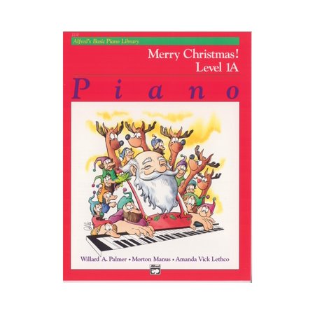 - Alfred 00-2210 Basic Piano Course- Merry Christmas Book 1A - Music Book