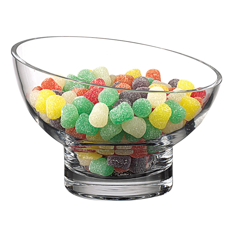 7 Mouth Blown Lead Free Slant Cut Candy Serving Glass Bowl Walmart Com Walmart Com