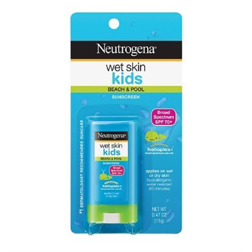 Neutrogena Wet Skin Kids Sunscreen Stick, SPF 70, 0.47 oz (Pack of 2)