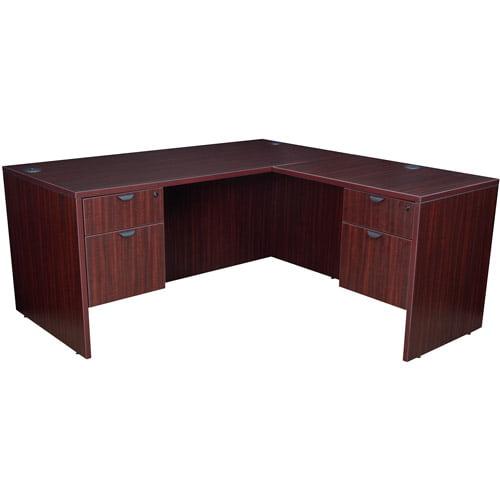 """Regency 60""""Corner Desk with Pedestals and Return"""