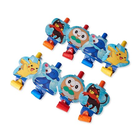 Pokemon Birthday Party Favor Blowouts, 8ct - Wholesale Pokemon