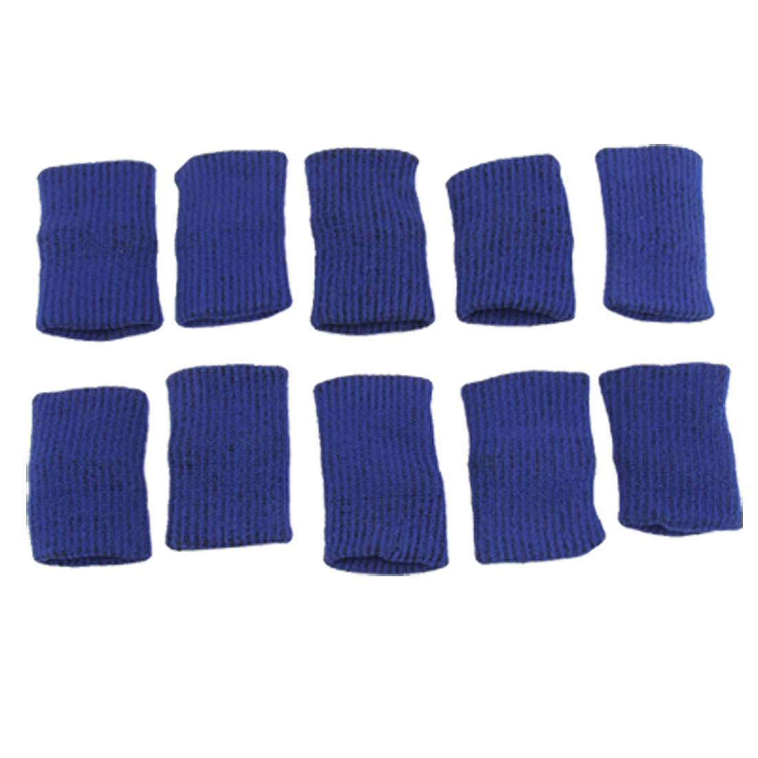 Unique Bargains 10Pcs Blue Sports Stretchy Soft Finger Sleeves Protector Support for Basketball