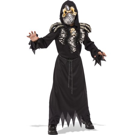 Death Stalker Boys Grim Reaper Demon Hell Raiser Child Halloween Costume - Demon Costume Wings