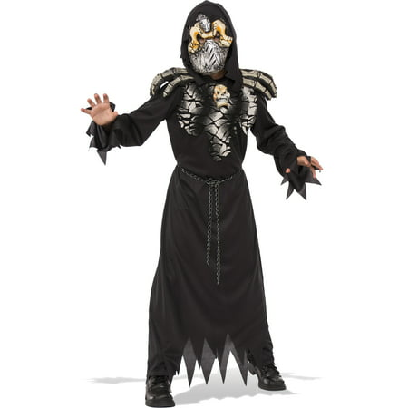 Death Stalker Boys Grim Reaper Demon Hell Raiser Child Halloween Costume (Grim Reaper Boys Costume)