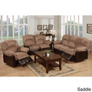 Poundex Arles 3 pieces Motion Recliner Living Room Set