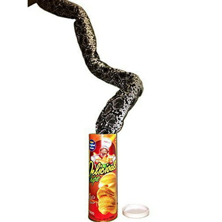 WINK KANGAROO The Potato Chip Snake Can Jump Spring Snake Toy Gift April Fool Day Halloween Party Decoration Jokes In A Can Gag Gift Prank Large Size