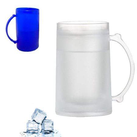 Frosty Freezer Mug 16 Ounce Beverage Cooling Device Beer Plastic Cup Cold Soda 16 Ounce Pilsner Mug