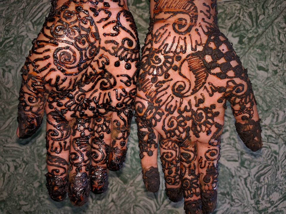 Peel,n,Stick Poster of Hand Mehndi Indian Tattoo Henna