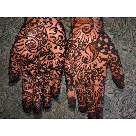 Peel N Stick Poster Of Hand Mehndi Indian Tattoo Henna Mehndi