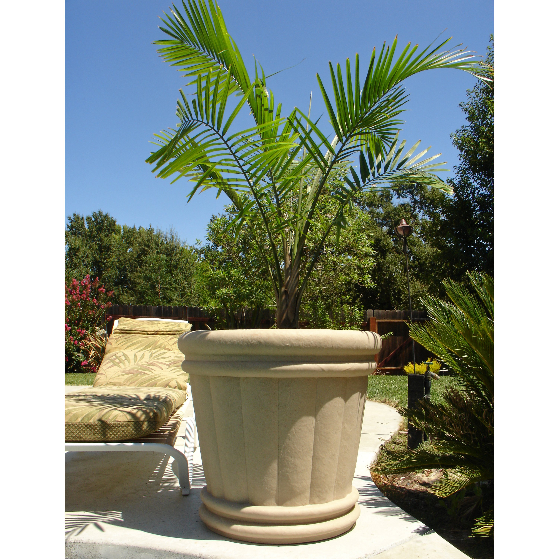 Round Fiberglass Roman Urn Planter by QualArc Inc