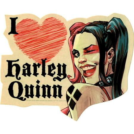 Sticker - DC Comic - Harley Quinn I Heart New Gifts s-dc-0177 - I Heart Ny Sticker