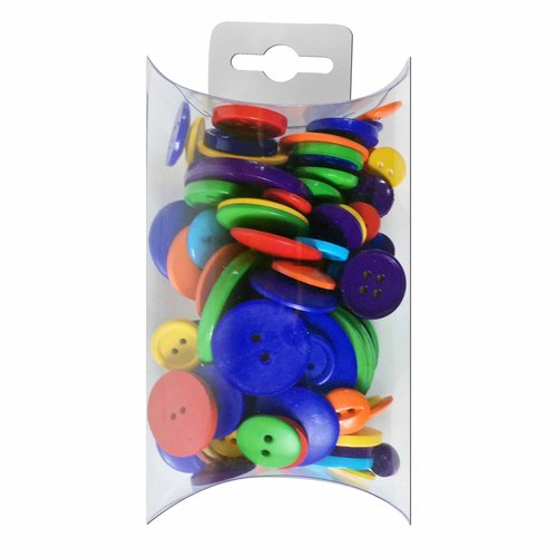 Favorite Findings Rainbow Mix Value Buttons, Multi-Count